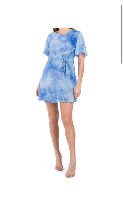 Item - Tie Dye Ruched Mini Short Casual Dress Size 2 (XS)