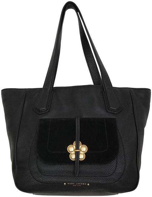 Item - Petal To The Metal Large (New with Tags) Black/Gold Hardware Leather Tote