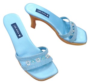 Leah Aiken Blue Sandals