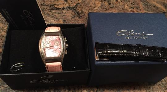 elini ELINI pink mother of pearl dial watch, new Band Like Michelle