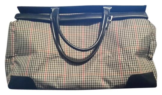 Diane von Furstenberg Brown, beige, red, and black paid with black trim Travel Bag