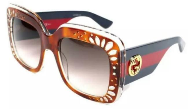 Item - Beige Blue Red New Rhinestone Oversized Web Bee Tamples Gg3862s Made In Italy. Sunglasses