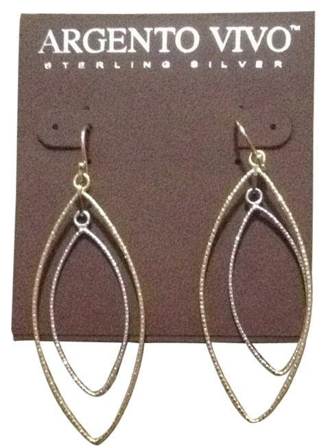 Argento Vivo Gold and Silver Earrings Argento Vivo Gold and Silver Earrings Image 1
