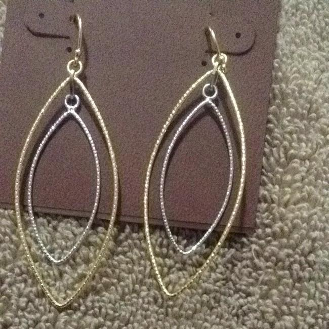 Argento Vivo Gold and Silver Earrings Argento Vivo Gold and Silver Earrings Image 2