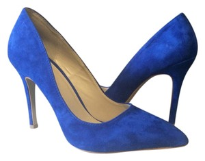 Shoemint Suede Cobalt Pumps