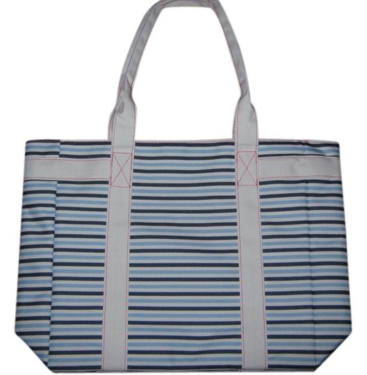 Preload https://item5.tradesy.com/images/estee-lauder-white-wnavy-blue-and-light-blue-stripes-tote-2963344-0-0.jpg?width=440&height=440