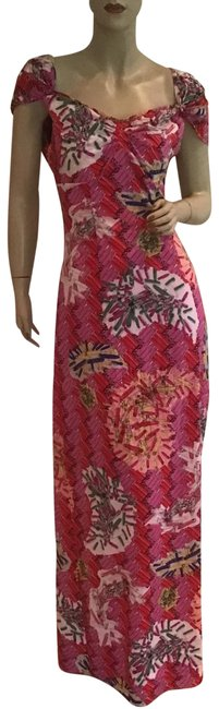 Item - Pink Safety Pin Sweetheart Long Casual Maxi Dress Size 6 (S)