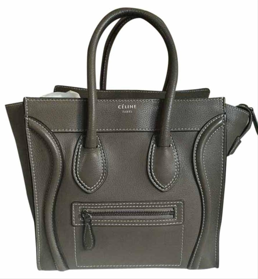 a4f859a434db Céline Luggage Micro Olive Green Drum Calf Leather Tote - Tradesy