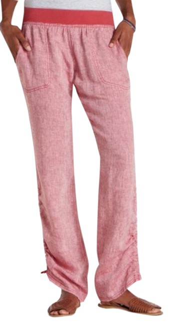 Item - Red L Toad & Co. Rhubard Linen Large Activewear Bottoms Size 12 (L, 32, 33)