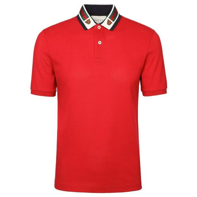 Item - Red New Small Embroidered Tiger Cotton Polo Tee Shirt Size 6 (S)