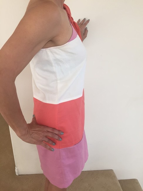 See by Chloé short dress Tri Color, White,orange, Pink on Tradesy