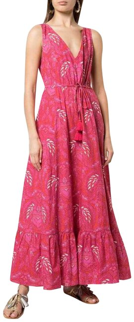 Item - Pink New Indira Floral Hot Tiered Long Casual Maxi Dress Size 16 (XL, Plus 0x)