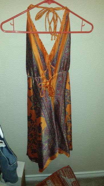 Other Top orange paisley print