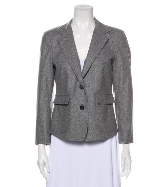 Item - Gray Fitted Blazer Size 4 (S)