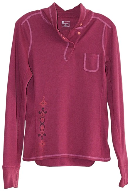 Item - Pink Ribbed Thermal Henley Activewear Top Size 10 (M)