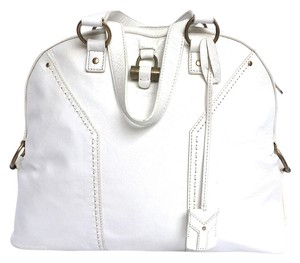 Saint Laurent Muse Ysl Cream Off White Shoulder Bag