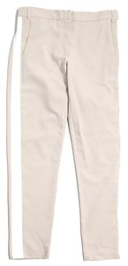 ASOS Skinny Striped Capris Beige & White