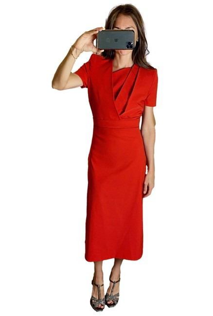 Item - Red Arya Mid-length Cocktail Dress Size 8 (M)