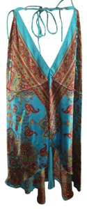 Marianne Top Turquoise Paisley print
