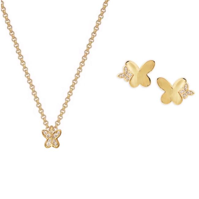 Item - • In A Flutter Butterfly Set Necklace