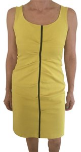 Lida Baday short dress Mustard yellow With Black Trimming on Tradesy