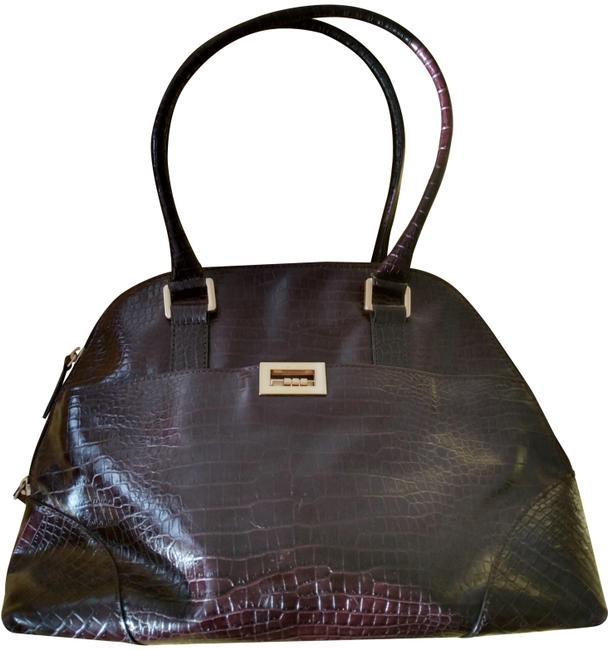 Item - Brown Shell Leather Satchel