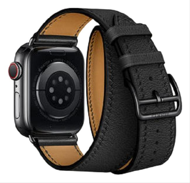 Item - Black and Brown *only Band* Band Apple Double Tour 44 Mm *only Band* Watch