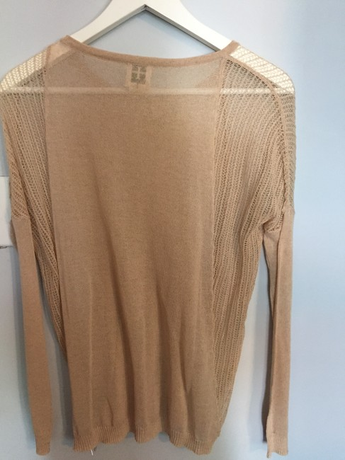 Haute Hippie Nude Sheer Knit Sweater