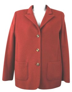 Escada Sport Red Angora Blend Jacket Blazer