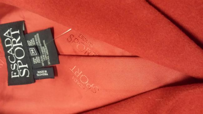 Escada Sport Red Angora Blend Jacket Blazer Image 2