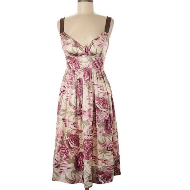 Item - Pink A-line Silhouette Floral Cocktail Dress Size 6 (S)