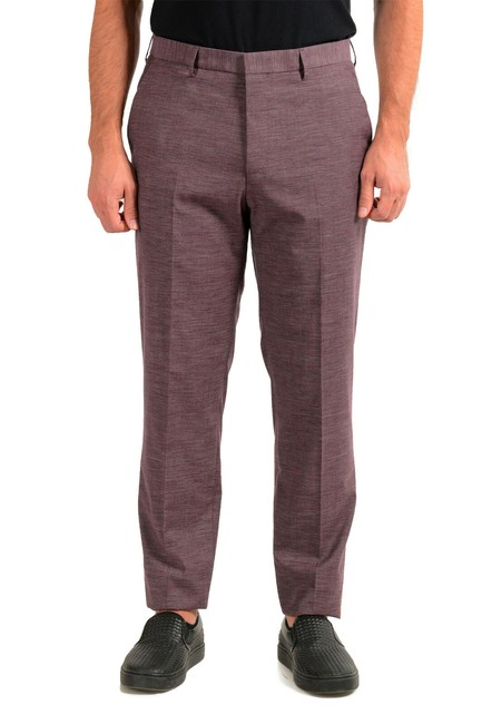 """Item - Purple Men's """"Pitko2"""" Wool Flat Front Casual Us 30r Pants Size OS (one size)"""