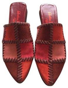 Salvatore Ferragamo Red And Brown Sandals