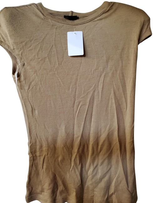 Item - Camel 36 Wool with Shoulder Pads Tee Shirt Size 6 (S)