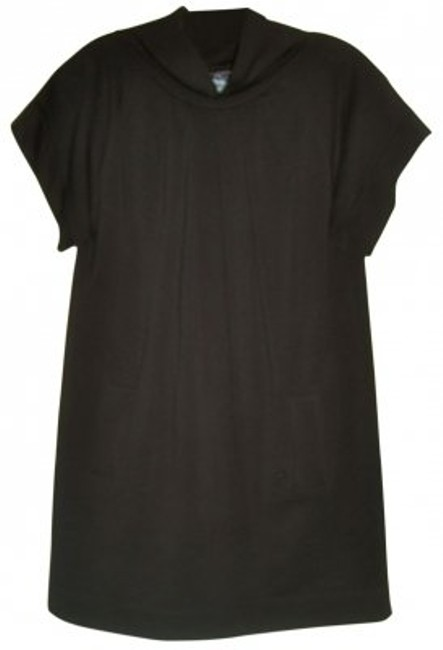 Preload https://item2.tradesy.com/images/french-connection-black-cowl-neck-tunic-mini-short-casual-dress-size-8-m-29646-0-0.jpg?width=400&height=650