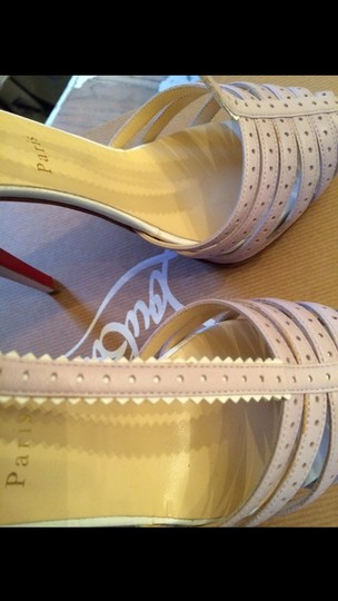 Christian Louboutin Platform Lilac And White Six Inch Heels Lilac, white Sandals