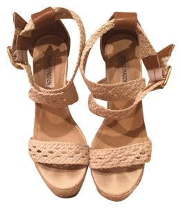 Steve Madden Strappy Nude Wedges