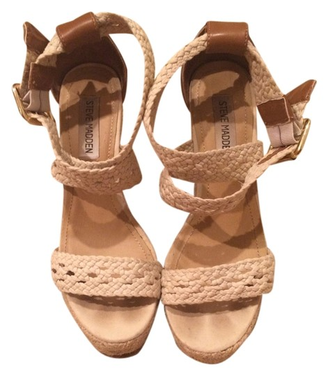 Steve Madden Strappy Nude Wedges Image 0
