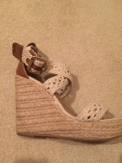 Steve Madden Strappy Nude Wedges Image 1