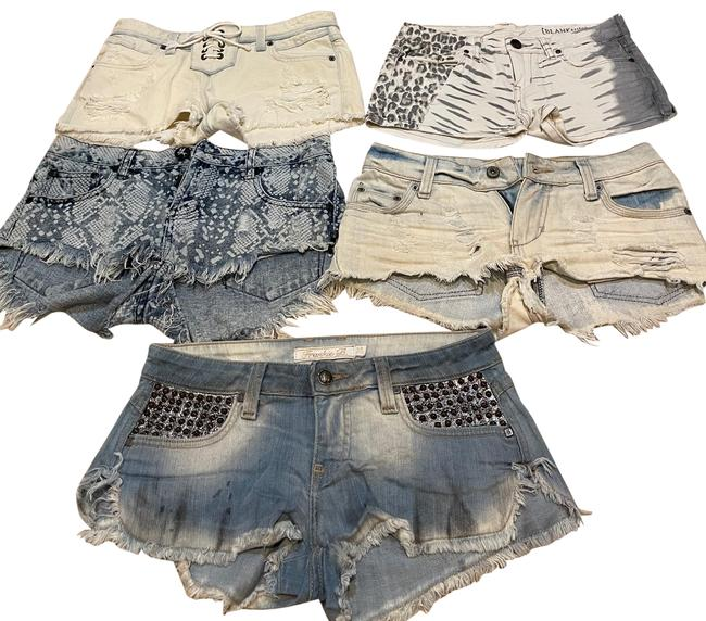 Item - Multicolored Big Star One By One Teaspoon 24 25 Lot 5 Shorts Size 4 (S, 27)