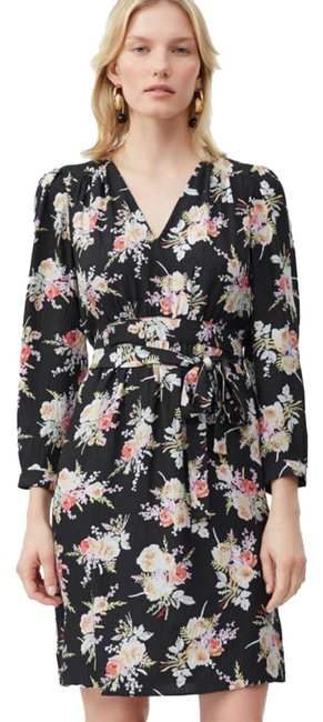 Item - Black Floral Silk In Bouquet Combo Us Cocktail Dress Size 6 (S)