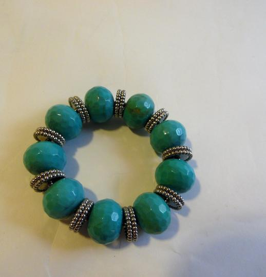R.J. Graziano R. J. Graziano Simulated Resin Turquoise Stretch Bracelet Image 2