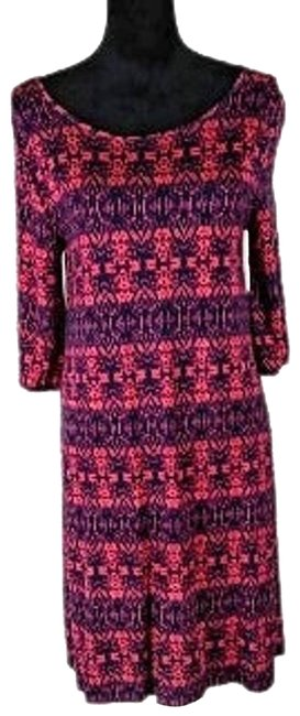 Item - Red Women's Print Small Cocktail Dress Size 4 (S)