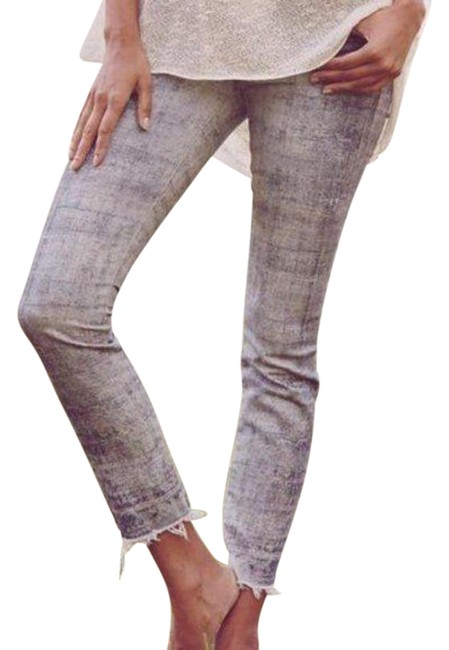 Item - Gray Distressed The Looker Ankle Relax Awhile Skinny Jeans Size 28 (4, S)