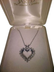 Jared 14K White Gold, Diamond Heart Pendant with Necklace