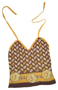 Other Italian Floral brown Halter Top