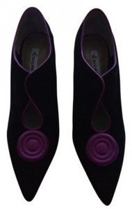 Devani Black/Magenta Suede Leather Boots