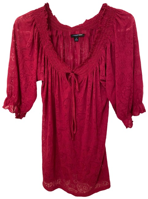 Item - Red Blouse Size 10 (M)