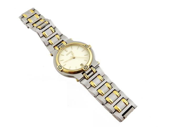 Item - Gold and Silver 9000m Two-tone Stainless Steel Men's Watch