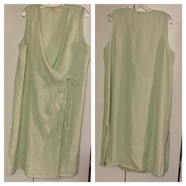 Item - Green Unknown Mid-length Short Casual Dress Size 14 (L)